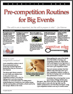 Pre-competition Routines for Big Events - eBook